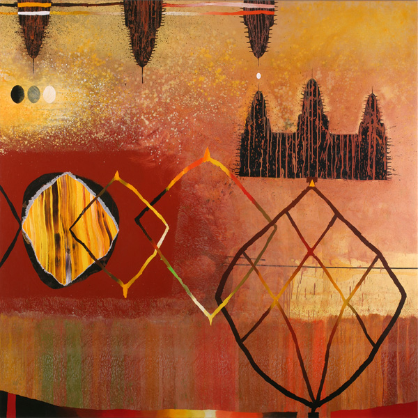 Princesas de adobe.2006.acrílico sobre tela.200 x 200 cms