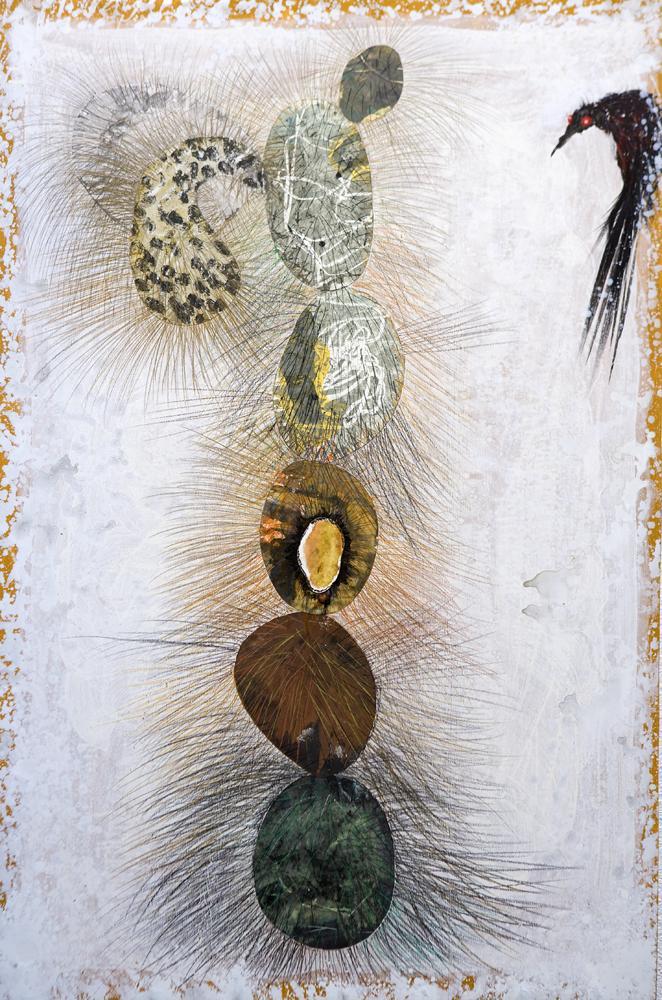 Evolución o el pájaro de la tarde. 2008. T mixta sobre madera .135 x 90,5 cm (4)