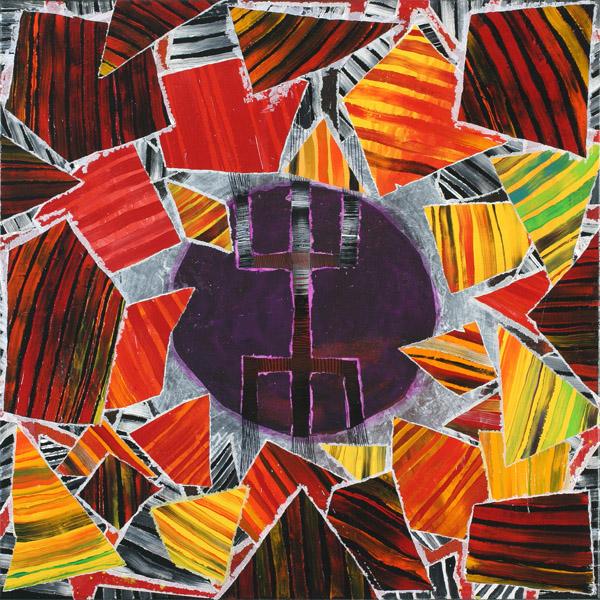 Kanaga.   2006.acrílico sobre tela. 80 x 80 cm