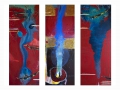 """""""Agua o el políptico de los ríos""""  2014. Técnica mixta sobre tela. 146 x 162 cm"""