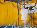 """El Arca de Noé o el naufragio""  2016. Técnica mixta sobre tela. 100 x 100 cm"