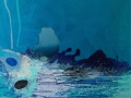 H2O.  2016. Acrílico y óleo sobre tela. 100 x 100 cm.