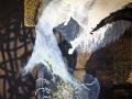 """""""Hidronimia"""" 2015. Técnica mixta sobre tela. 114 x 146 cm"""