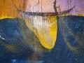 La mujer de agua. 2016 Técnica mixta sobre tela. 100 x 100 cm