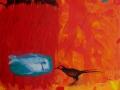 La pequeña pesca. 2015. Acrílico,óleo y lápiz sobre tela. 46 x 55 cm. (2)