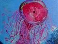 Medusa-de-amanecer.2020.Técnica-mixta-sobre-tela.-65-x-50-cm