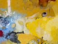 """Naturaleza muerta con diente de león""  2015. Técnica mixta sobre tela. 100 x 100 cm"