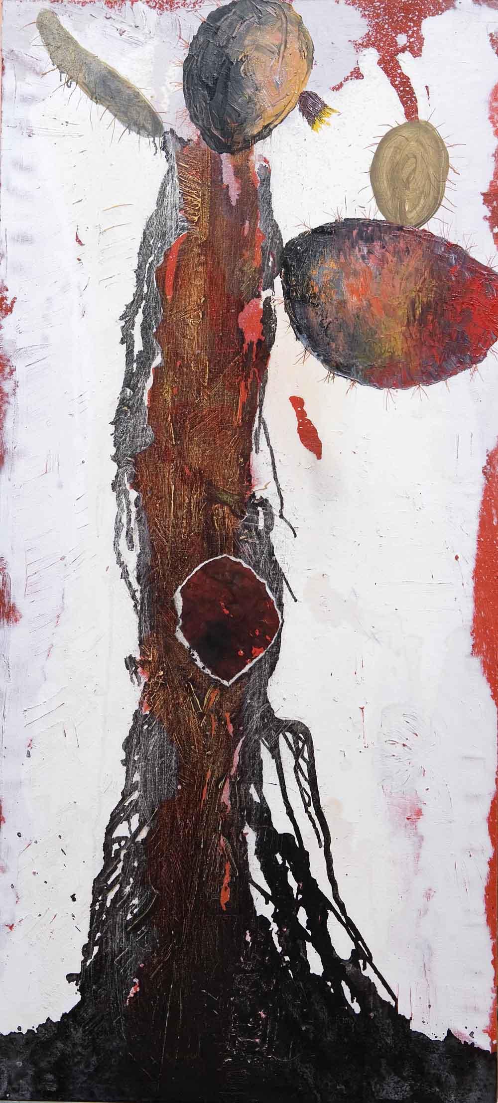 OPUNTIA.2007.Técnica-mixta-sobre-tela.130-x-60-cm-.