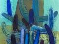 Sequía azul.  2007. Óleo y acrílico sobre tela. 81 x 65 cm .