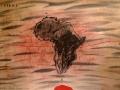 """""""Africa""""  2020. Técnica mixta sobre papel. 35 x 50 cm"""
