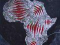 """""""Mombasa""""  2020. Técnica mixta sobre papel. 50 x 35 cm."""